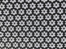 Stof - Zwart bloem
