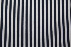 Stof - Blauw (donker) streep