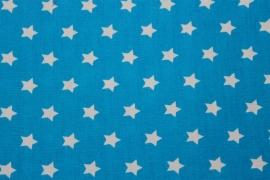 Stof - Blauw / Ster (wit)