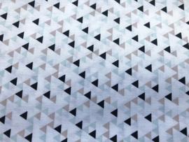 Stof - Wit driehoek zwart/mint/bruin