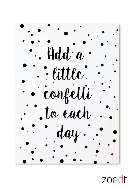 Kaart Add a little confetti to each day