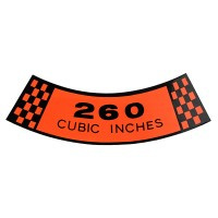 Air Cleaner Decal 260 CID 64 1/2