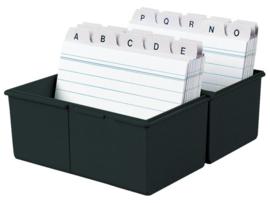 Kaartenbakje voor A5 formaat ( analysekaarten ), grijs en zwart