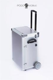 PodoMobile Maxi Pedicure Trolley Brush Silver, elektrokabel twv 9.99 euro inbegrepen