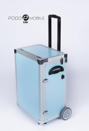PodoMobile Maxi Pedicure Trolley Grey Blue, elektrokabel twv 9.99 euro inbegrepen