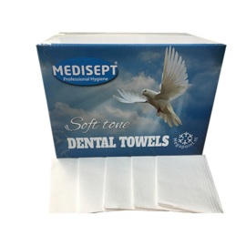 Medisept® Dental Towels Soft Tone Kleur: Wit ,125 stuks
