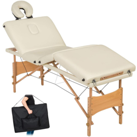 4 zone massagetafel + tas wit