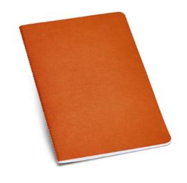 Notitieboekje van gerecycleerd karton gelinieerd oranje A5