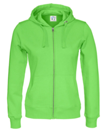 Cottover full zip hoody, groen
