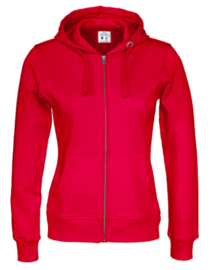 Cottover full zip hoody, rood