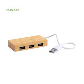 USB Hub Gemaakt Van Bamboe