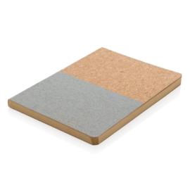 Eco kurk notitieboek, grijs
