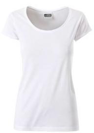 James & Nicholson damesshirt, wit