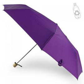Mini Storm Paraplu Met Bamboo Handvat, Gemaakt Van RPET
