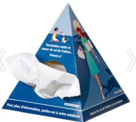 Pyramide tissue box