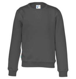 Organic Katoen Crew neck sweater Cottover unisex kleur Anthraciet