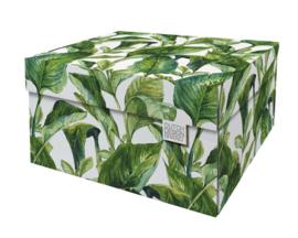 Dutch Design Storage Box Kerst Green Leaves