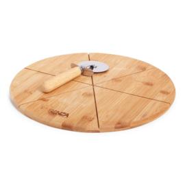Bamboe Pizza Snijplaat Met Snijmachine