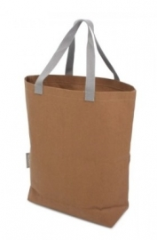 Washed Kraft Paperbag 100% Recycled, Bruin