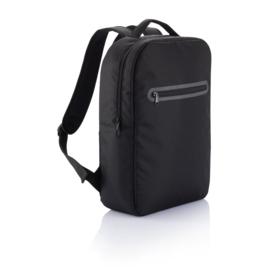 PVC Vrije Laptop Rugtas, Zwart