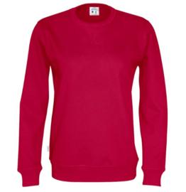 Organic Katoen Crew neck sweater Cottover unisex kleur rood