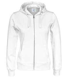 Cottover full zip hoody, wit
