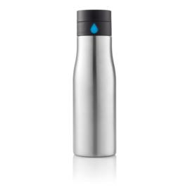 Aqua hydratatie RVS fles, grijs