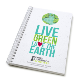 Zaadpapier notitieboek Live Green / Growing Green