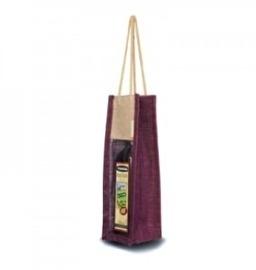 Jute Wine Bag, Transparant