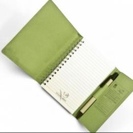Eco notitieboek Summer kleur groen