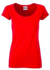 James & Nicholson damesshirt, rood