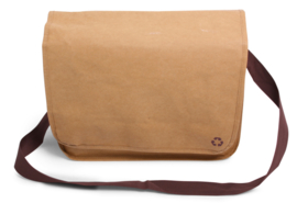 Washed Kraft Shoulderbag 100% recycled, bruin