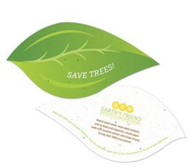 Groen blad van zaadpapier of groeipapier