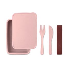 Bamboevezel lunchbox roze