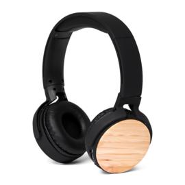 BRAINZ Bluetooth Headphone Bamboo