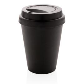 Herbruikbare Dubbelwandige Koffiebeker, Zwart