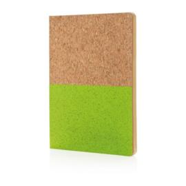 Eco kurk notitieboek, groen
