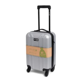 "Cabin Size ""Simply Green"" Trolley RPET Silver"