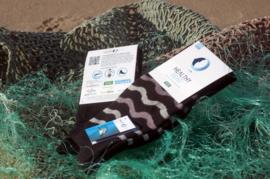 Sokken gemaakt van visnetten