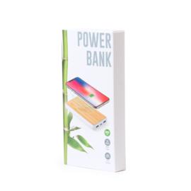 Power Bank Gemaakt Van Bamboe, 8000 mAh
