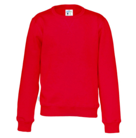 Organic Katoen Crew neck sweater Cottover kid kleur rood