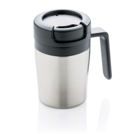 Coffee to go mok met handvat, zilver