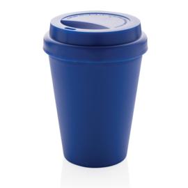 Herbruikbare Dubbelwandige Koffiebeker, Blauw