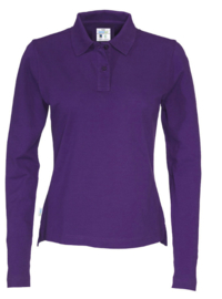 COTTOVER polo pique long sleeve lady kleur paars