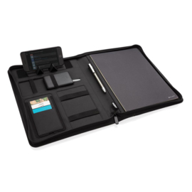 A4 portfolio met draadloze oplader, zwart