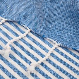 XL Oekotex-Katoen Handdoek, Blauw
