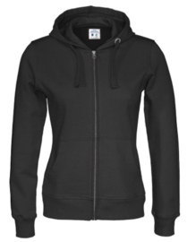 Cottover full zip hoody, zwart