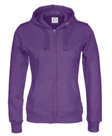 Cottover full zip hoody, paars