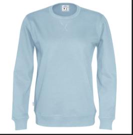 Organic Katoen Crew neck sweater Cottover unisex kleur lichtblauw