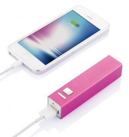 Powerbank 2200 mAh, roze